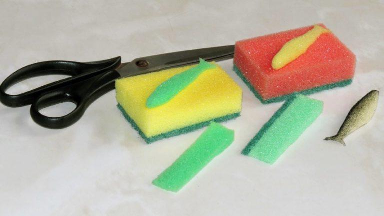 Как сделать из губок и перчатки 207